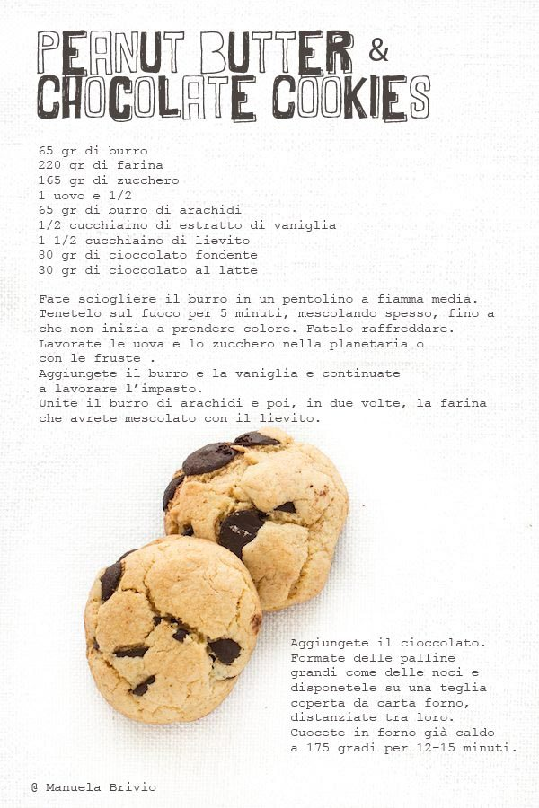 Peanut Butter & Chocolate Cookies Recipe