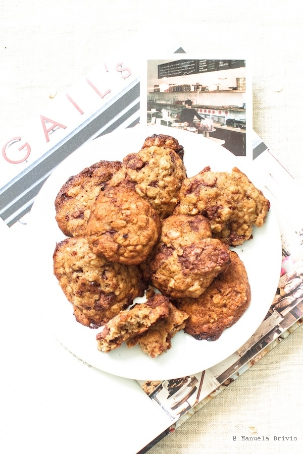 Banana, walnut and milk chocolate cookies (recipe by GAIL's Artisan Bakery)